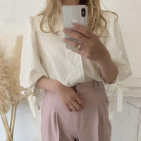 ribbon sleeve blouse
