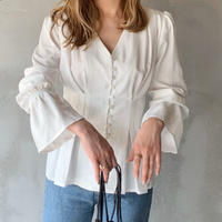 peplum blouse[white]