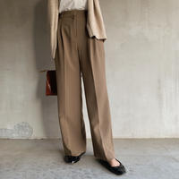 two‐tuck slacks[brown]