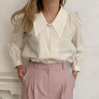 puff sleeve collar shirt[beige]