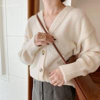 alpaca knit cardigan