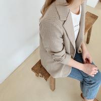 【即納】check jacket