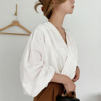 volume sleeve gather blouse[ivory]