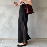 【即納】slit slacks[black]