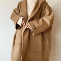 handmade wool volume coat[camel]