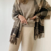 check stole[brown]