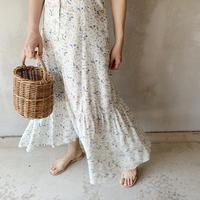 【即納】flower print dress[ivory]