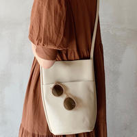 leather bucket bag[ivory]