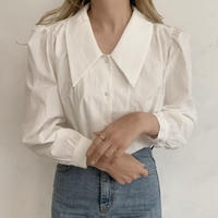 puff sleeve collar shirt[ivory]