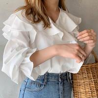 【即納】frill cache coeur blouse