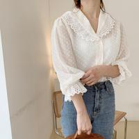 lace dot blouse[cream]