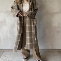 hoody long coat[check]