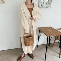long knit cardigan[ivory]