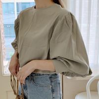 back button volume sleeve blouse[mint]