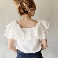 volume frill blouse