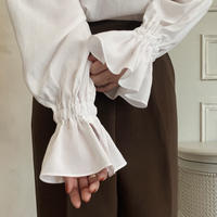 frill sleeve blouse[white]