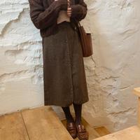 【即納】check pencil skirt[brown]