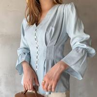 【即納】peplum blouse[skyblue]