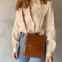 【即納】leather clip bag[camel]