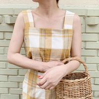 linen check tops[yellow]