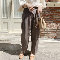【即納】tapered pants[gray brown]