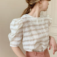 check sheer blouse