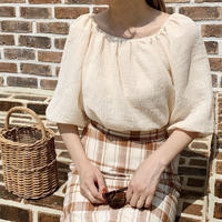 【即納】puff sleeve blouse[cream]