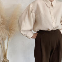volume puff sleeve shirt[beige]