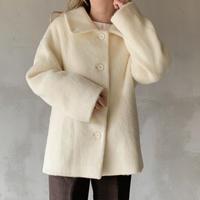 mohair cocoon coat[ivory]