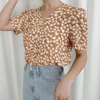 【即納】retro flower blouse[orange]