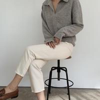 collar knit[gray]