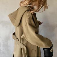 hoody long coat[khaki]