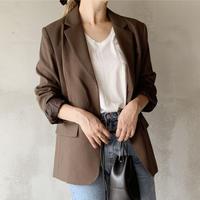 basic tailored jacket[brown]
