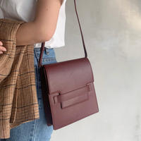 leather clip bag[wine]