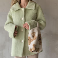 mohair cocoon coat[melon]
