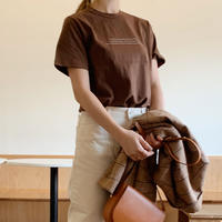 【即納】logo t-shirt[brown]