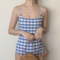 【即納】gingham op swim[blue]