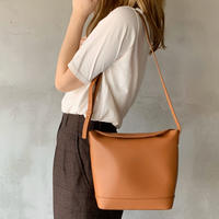 【即納】leather bread bag[camel]