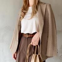 check jacket[brown]
