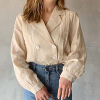 【即納】double button linen blouse[beige]
