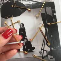 stick swarovski pierce