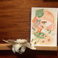 ポストカード 乙姫箱ひろよ お花の妖精学校/中等部の少女 2018for花蓮 HANDandHEART