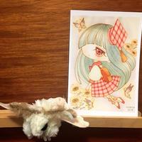ポストカード 乙姫箱ひろよ お花の妖精学校/初等部の少女 2018for花蓮 HANDandHEART