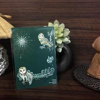 ポストカード メンフクロウと智慧の雫 2018for花蓮 HANDandHEART