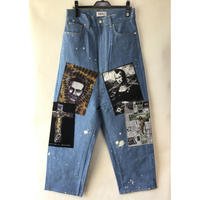"""KIDILL """"WS Patch Tapered Denim Pants"""" KL512"""