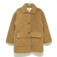 Curly Boa Coat/コンビチェックトレンチコート