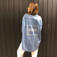 ViiDAデニムシャツ(Blue)