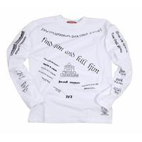 メメントモリタトゥーロングスリーブTシャツ