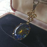 ヴィンテージ Sapphire/Topaz Prism-Star (oval)ネックレス