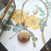 Franceヴィンテージ ミモザbouquetネックレス